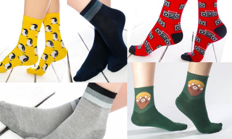 Renkli Soket Çoraplarda Eğlenceli Seçimler